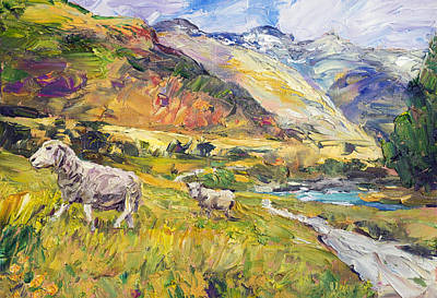 Painting - New Zealand Pastoral by Steven Boone