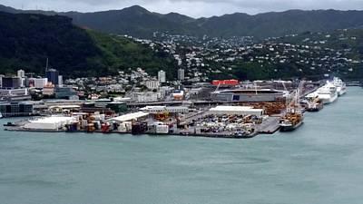 New Zealand - Port Of Wellington  Art Print