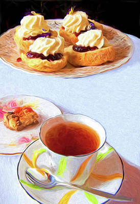 Mixed Media - New Zealand Scones And Tea by Dennis Cox Photo Explorer