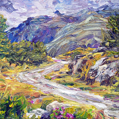 Painting - New Zealand Track by Steven Boone