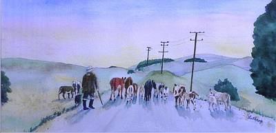 New Zealand Traffic Jam Art Print by Christine Lathrop