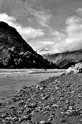 Photograph - New Zealand - Trilogy 1 - Black And White by Jeremy Hall