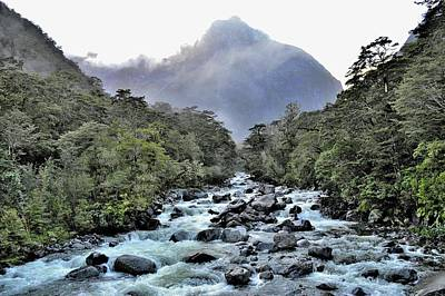 Photograph - New Zealand - Tutoko River by Jeremy Hall