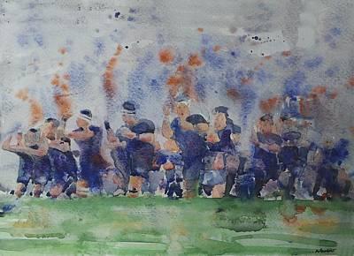 New Zealand World Cup Rugby Team Original by Baresh Kebar - Kibar