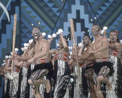 Photograph - New Zealand,north Island,  Rotorua Arts Festival,dance And Singi by Juergen Held