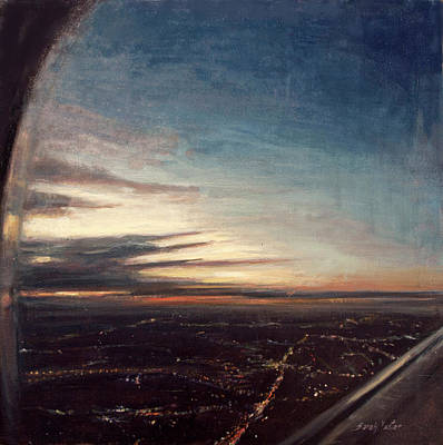 Painting - Newark - Inbound #1 by Sarah Yuster