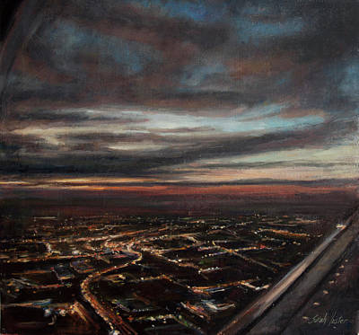 Painting - Newark - Inbound #2 by Sarah Yuster