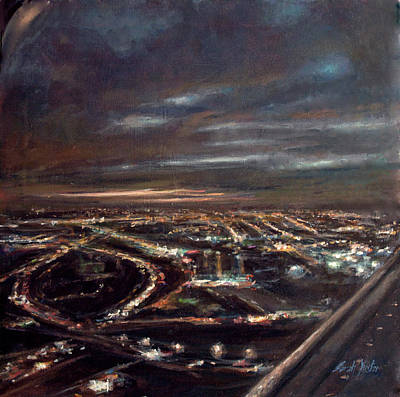 Painting - Newark - Inbound #3 by Sarah Yuster