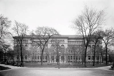 Photograph - Newberry Library - University Of Chicago C. 1900 by Daniel Hagerman
