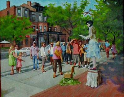 Painting - Newbery St. Boston by Janet McGrath