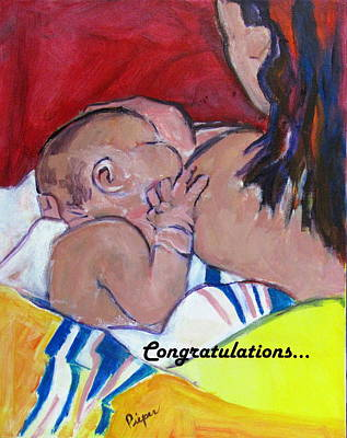Painting - Newborn by Betty Pieper