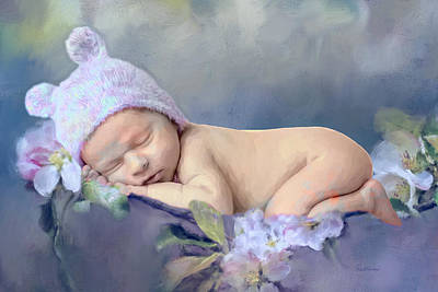 Painting - Newborn On The Flowers - Painting by Ericamaxine Price