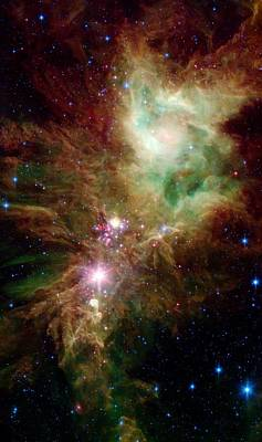 Intergalactic Space Photograph - Newborn Stars by American School