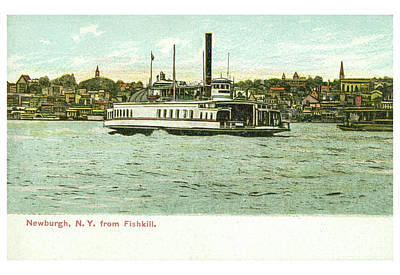 Photograph - Newburgh Steamers Ferrys And River - 24 by Joe Santacroce