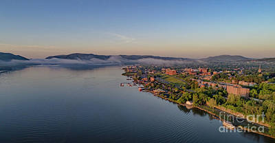 Photograph - Newburgh Waterfront At Sunrise by Joe Santacroce