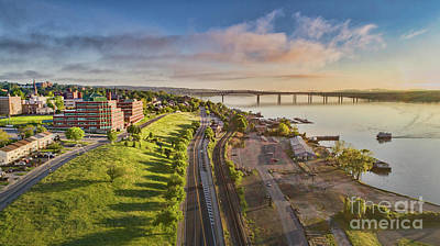 Photograph - Newburgh Waterfront Looking North by Joe Santacroce