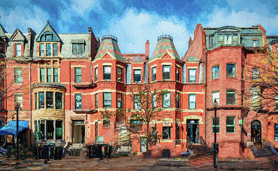 Painting - Newbury Street In Boston by Thomas Logan