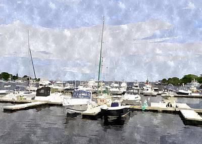 Newburyport Harbor Nhwc Art Print