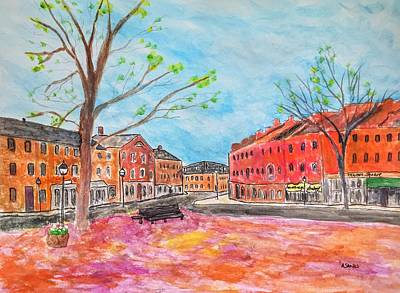 Painting - Newburyport In Spring by Anne Sands