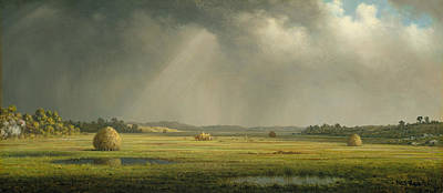 American Painters Painting - Newburyport Meadows  by Martin Johnson Heade