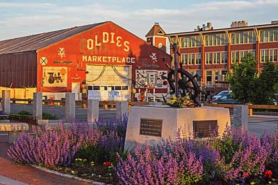 Photograph - Newburyport Memorial Oldies Shack Newburyport Ma Sunset by Toby McGuire