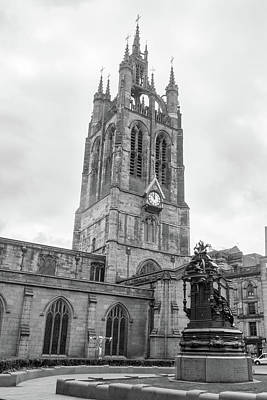 Black And White Photograph - Newcastle Cathedral, Cathedral Church Of St Nicholas Black And W by Jacek Wojnarowski
