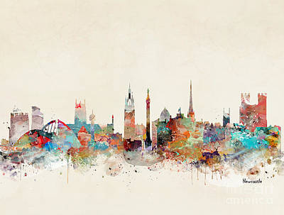 Painting - Newcastle England by Bri B