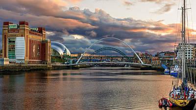 John Brown Photograph - Newcastle Quayside Sunset by John Brown