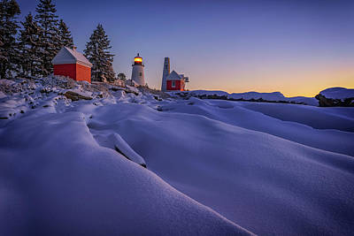 Photograph - Newfallen Snow At Pemaquid Point by Rick Berk