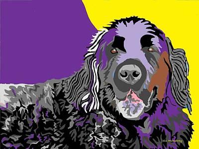 Newfie Digital Art - Newfie Bear by Su Humphrey