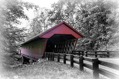 Photograph - Newfield Covered Bridge by Carolyn Derstine