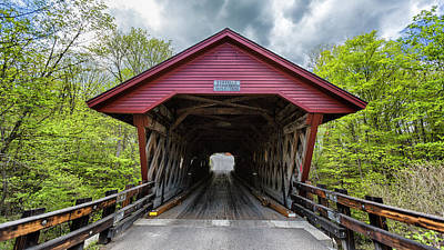 Historic Bridge Photograph - Newfield Covered Bridge by Stephen Stookey