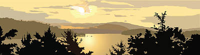 Wall Art - Painting - Newfound Lake by Marian Federspiel