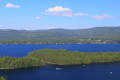 Photograph - Newfound Lake Summer View From Mount Sugarloaf by John Burk