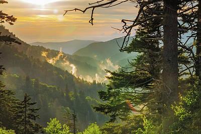 Tennesee Photograph - Newfound Sunset by Bryan Bzdula