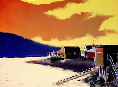 Photograph - Newfoundland Fishing Shacks by Ian  MacDonald