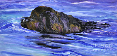 Newfoundland Oil Painting Art Print by Mary Jo Zorad