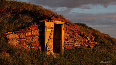 Photograph - Newfoundland Root Cellar by CR Courson