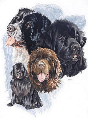 Newfoundland W/ghost Art Print by Barbara Keith
