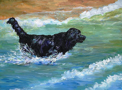 Painting - Newfoundland Water Trials by Mary Jo Zorad