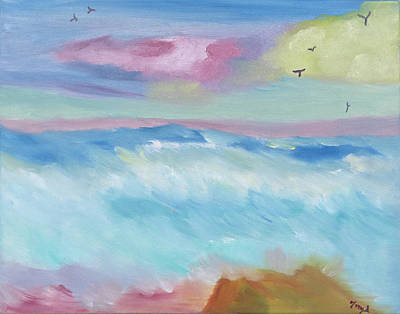 Painting - Frothy Ocean Waves by Meryl Goudey