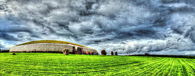 Www.doublevision-images.com Digital Art - Newgrange's Rolling Thunder by Kim Shatwell-Irishphotographer