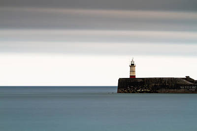 Photograph - Newhaven Lighthouse, 200 Second Exposure by Will Gudgeon