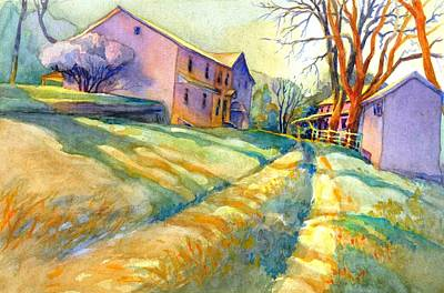 Grist Mill Painting - Newlin Grist Mill, No 3 by Virgil Carter