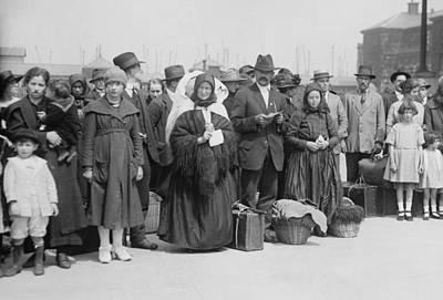 Photograph - Newly Arrived European Immigrants by Everett