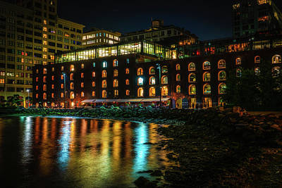 Photograph - Newly Gentrified Warehouse At Night by Chris Lord