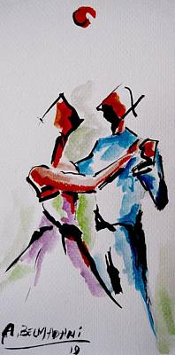Peaple Painting - Newly Weds by Bel Madani