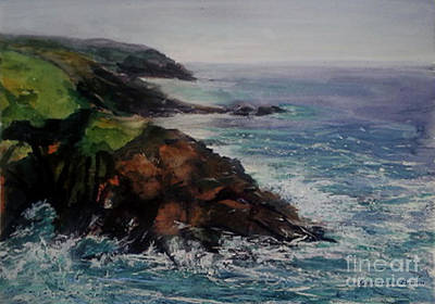 Painting - Newlyn Cliffs 2 by Genevieve Brown