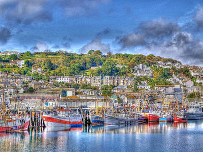 Newlyn Harbour Cornwall Original by Chris Thaxter