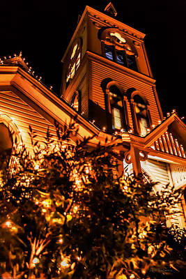 Photograph - Newman United Methodist Church - Christmas Night by Mick Anderson